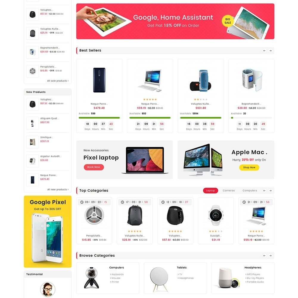 theme - Electronics & Computers - Digital Electronics Mart - 3