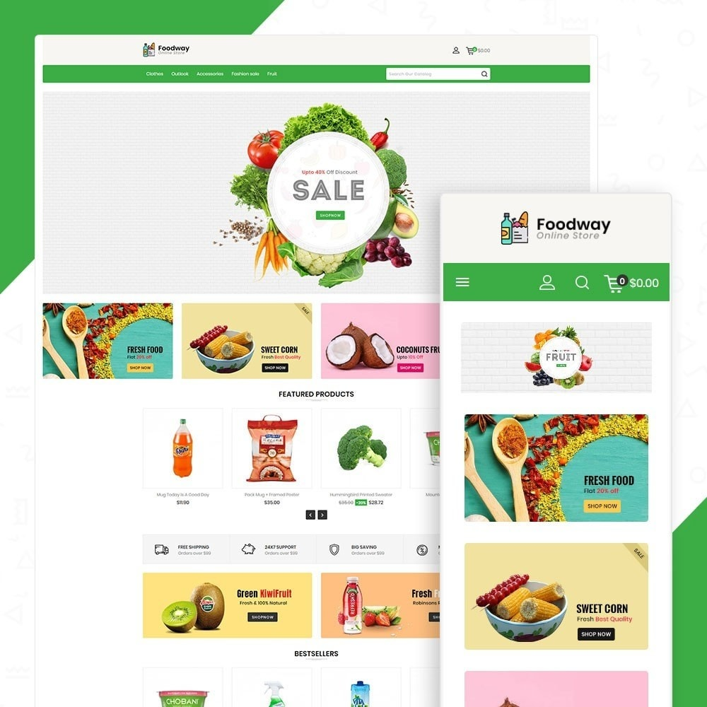 theme - Food & Restaurant - Foodway Online Store - 1