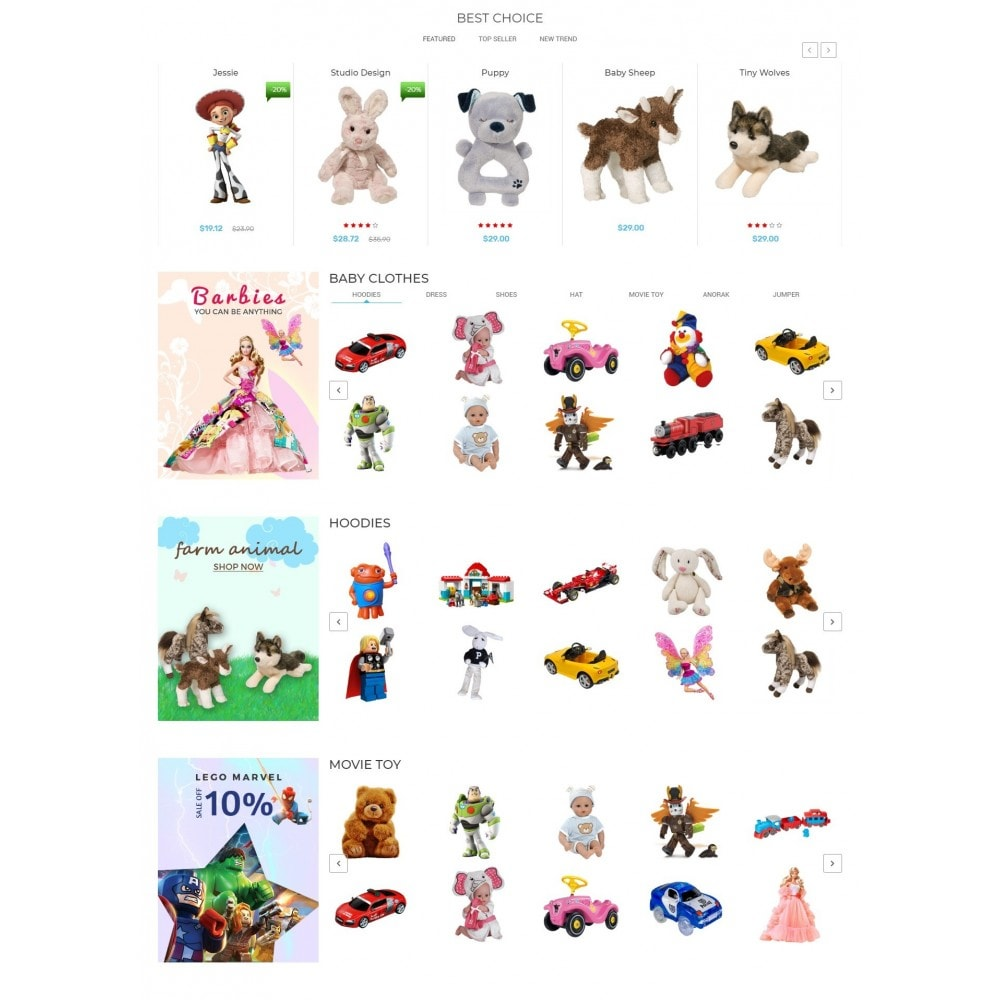 theme - Дети и Игрушки - Kiddy & Children Store - 3
