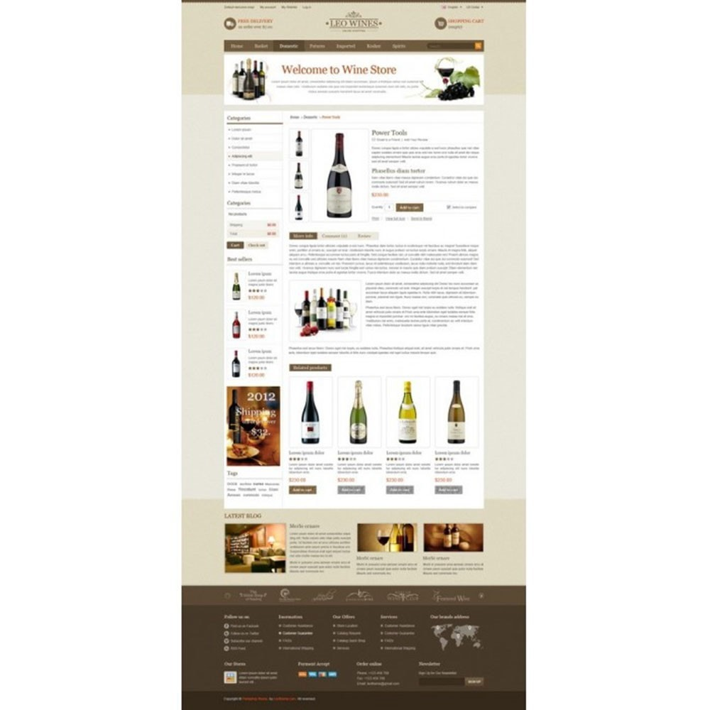 theme - Boissons & Tabac - Leo Wines - Alcool, Restaurant & Magasin d'alcool - 4