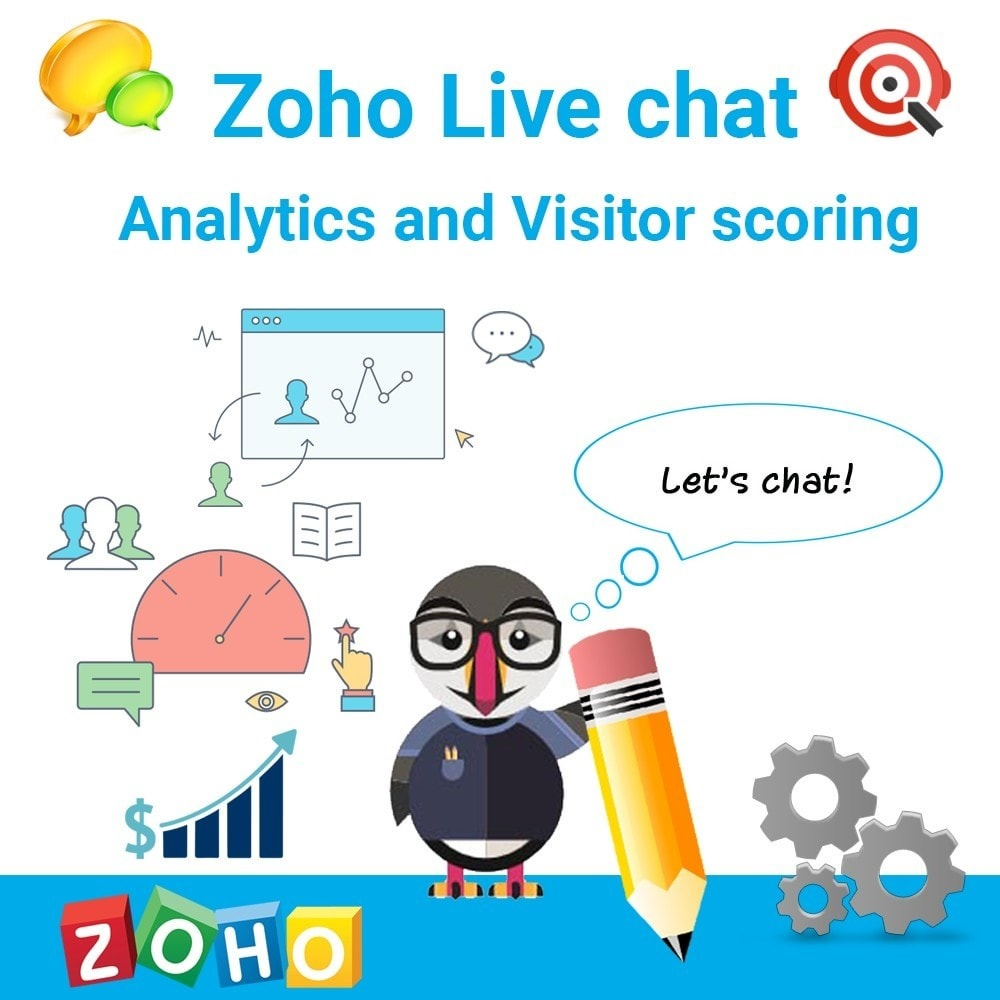 module - Support & Online Chat - Zoho Live chat. Support. Analytics and Visitor scoring. - 1
