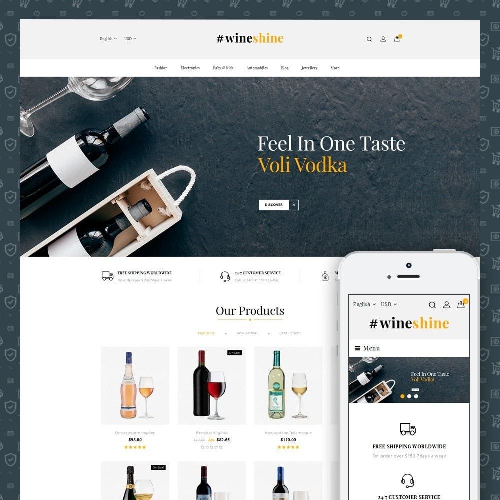 theme - Boissons & Tabac - Wine Shine Store - 1