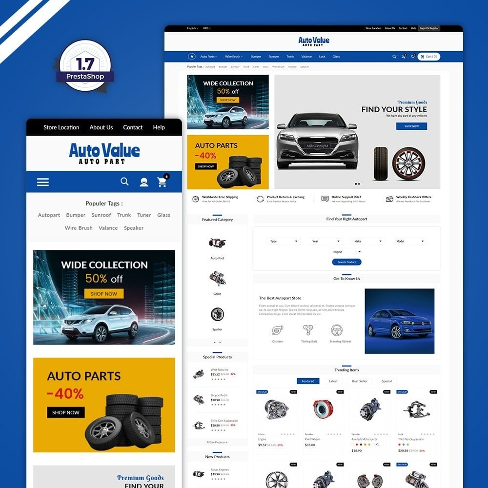 theme - Carros & Motos - Auto Part –Tools Mega Shop - 1