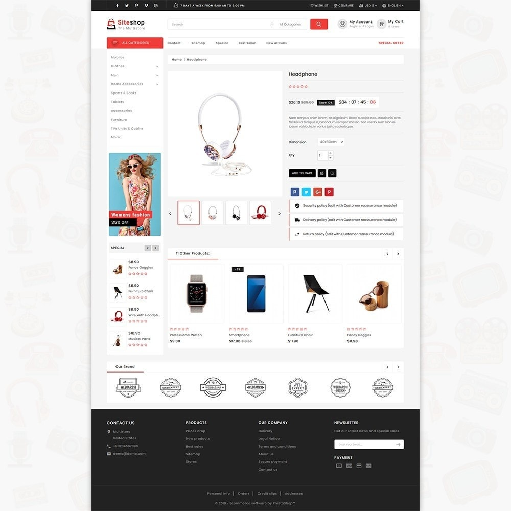 theme - Electronique & High Tech - SiteShop - Online Shopping Trade - 5