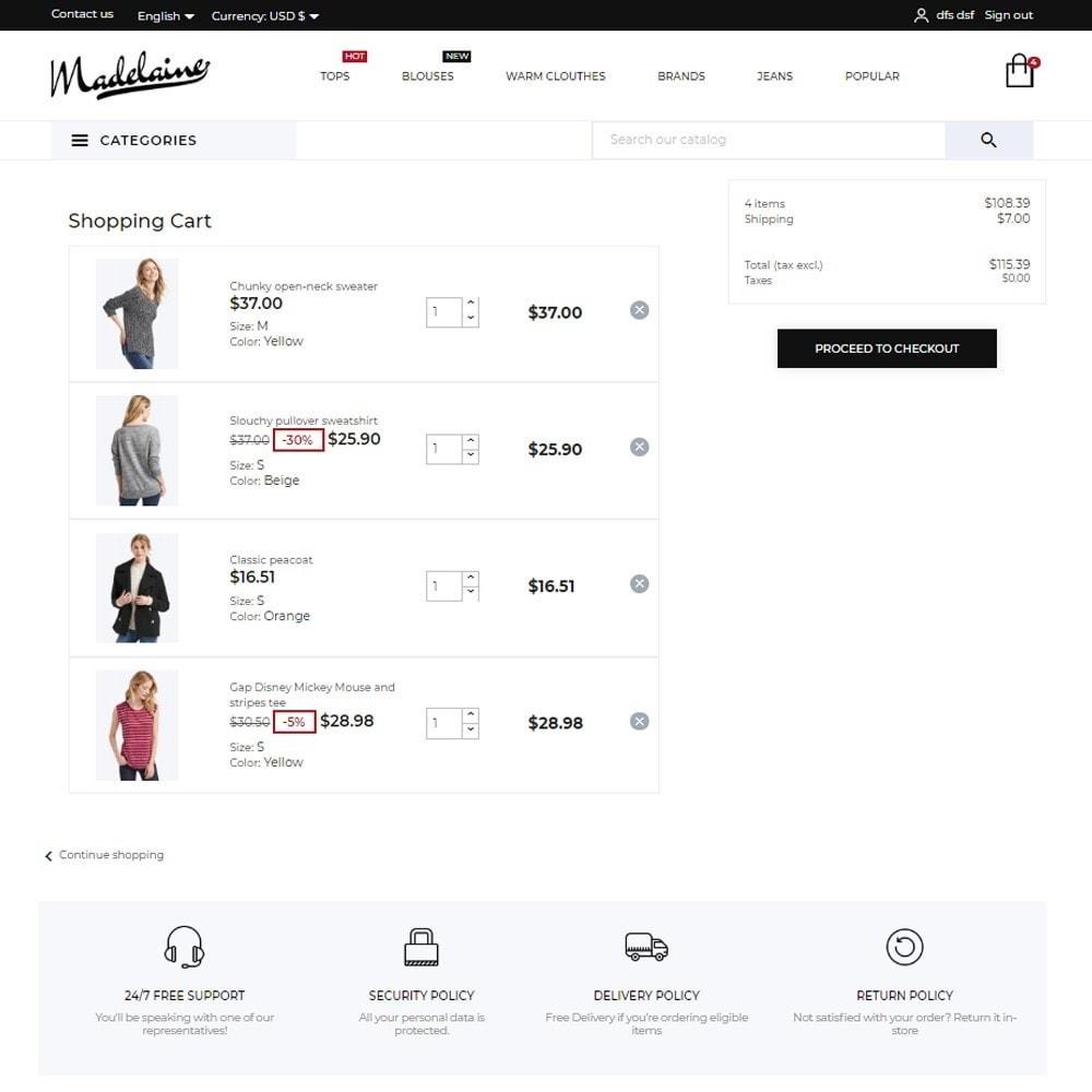 theme - Moda & Calçados - Madelaine Fashion Store - 7