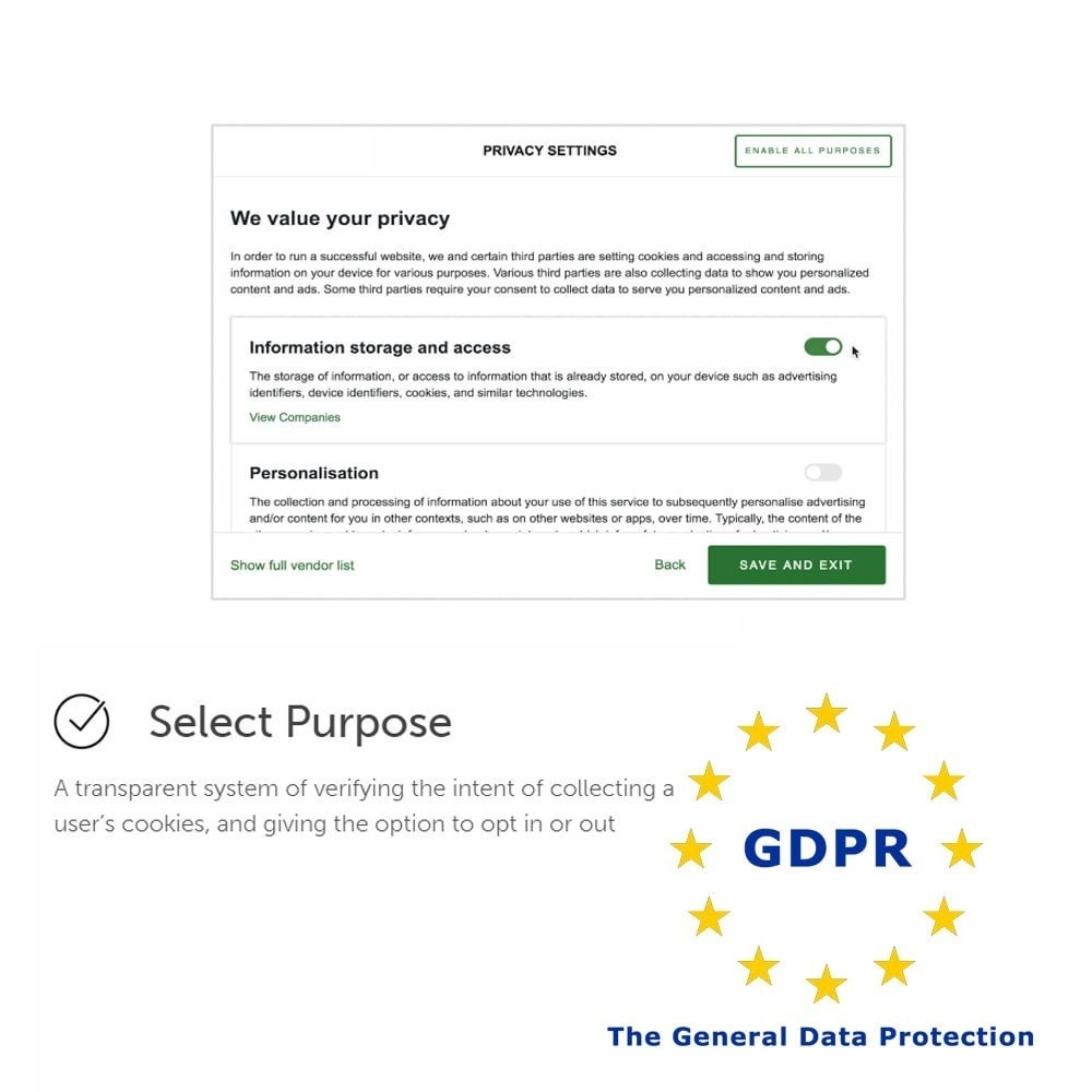 module - Администрация - General Data Protection Regulation (GDPR) Compliance - 3