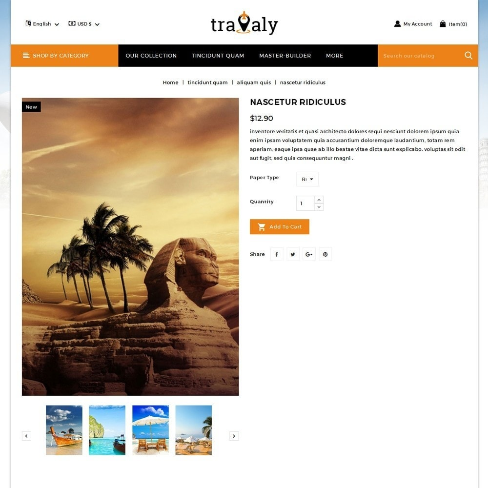 theme - Sport, Loisirs & Voyage - Travaly  -The Tourism Store - 6