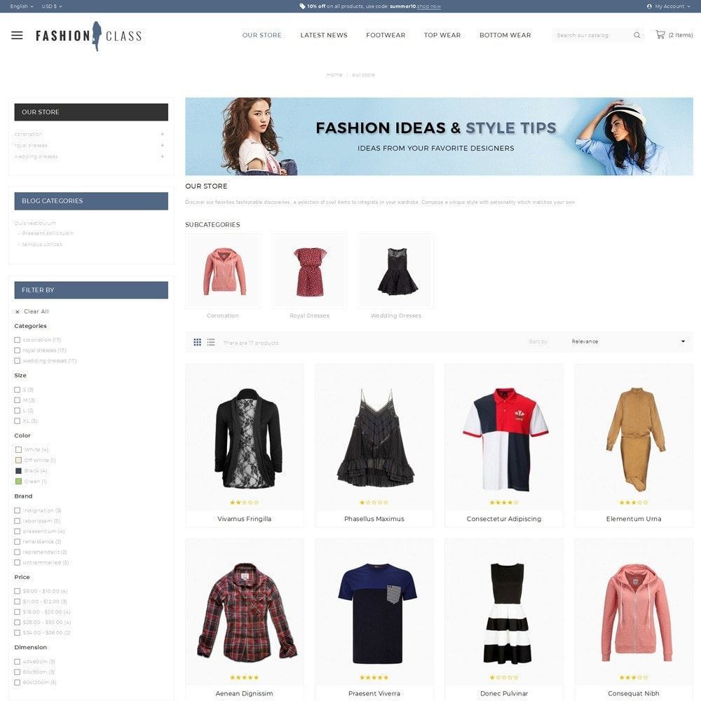 theme - Fashion & Shoes - Fashionclass - The Fashion Store - 4