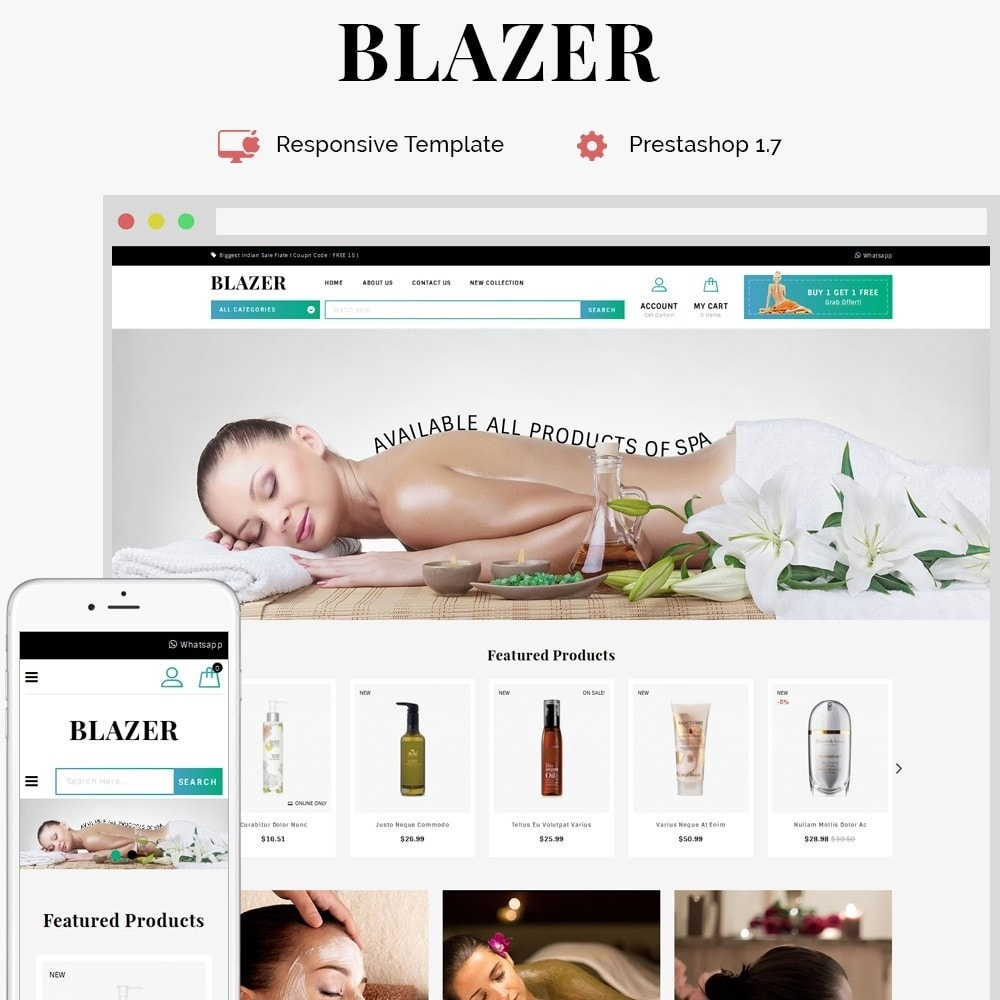 theme - Health & Beauty - Blazer Spa Store - 1