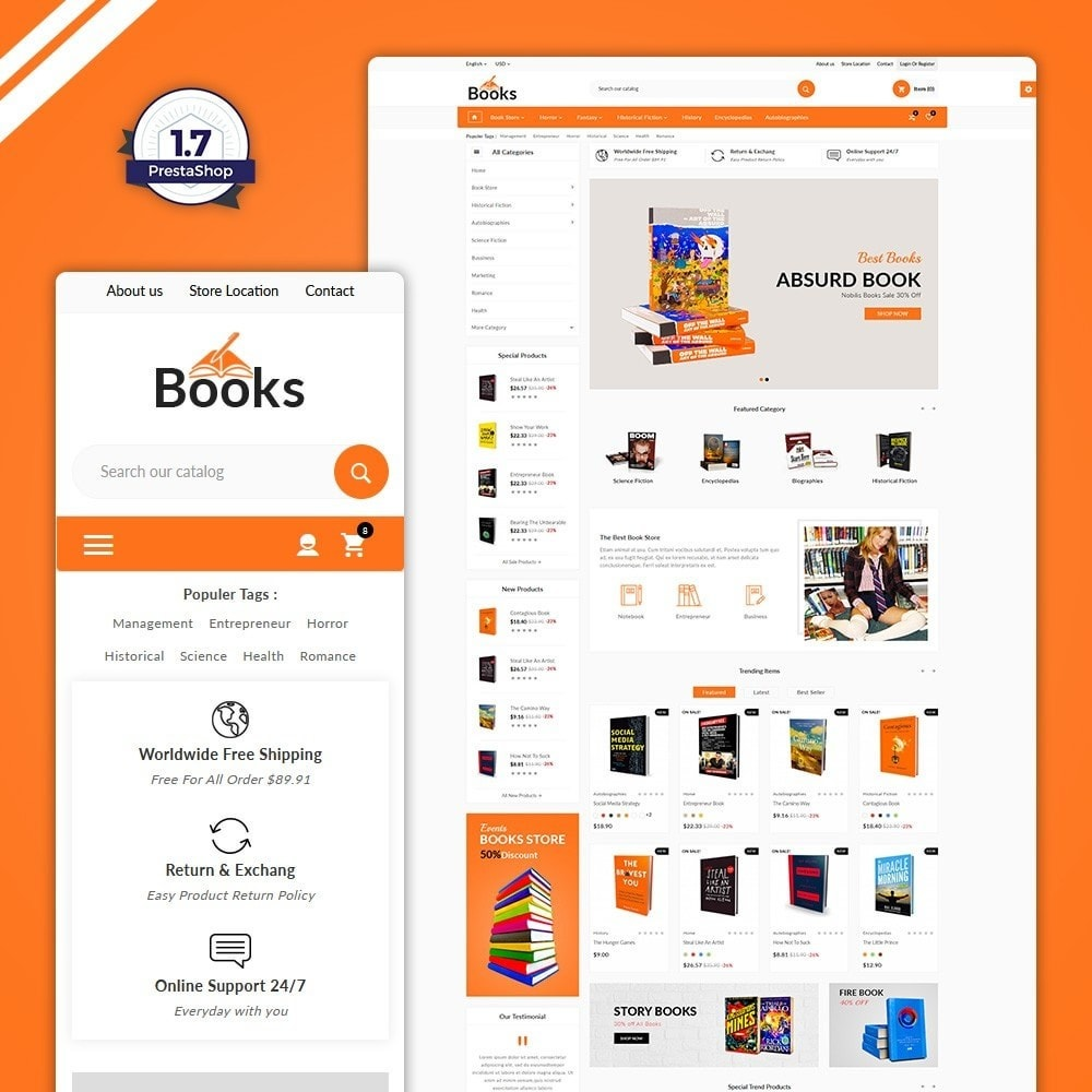 theme - Home & Garden - The Book – Books Store - 1