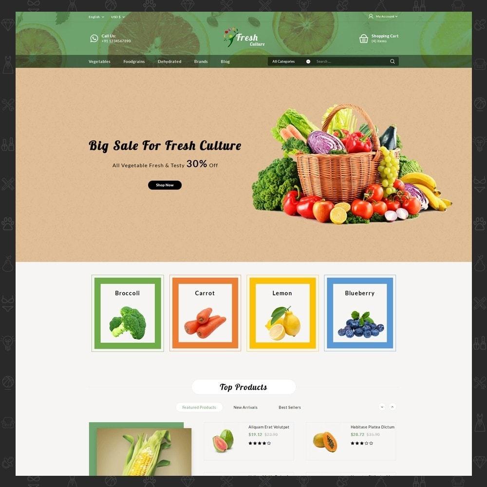 theme - Food & Restaurant - Fresh Culture Organic Store - 2