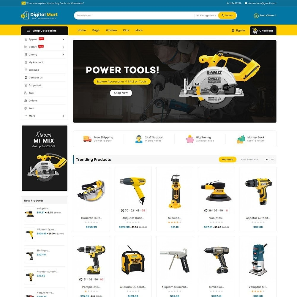 theme - Электроника и компьютеры - Digital Mart Tools Equipment - 2