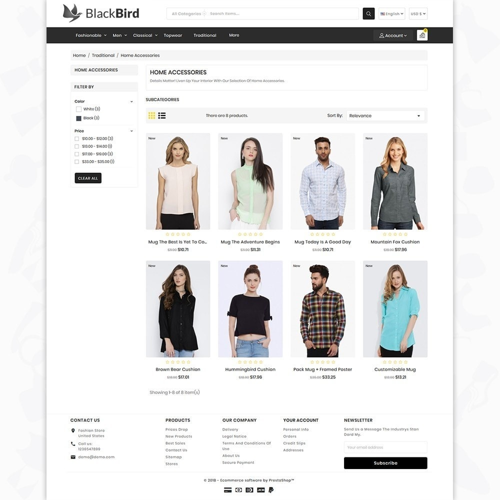 theme - Moda & Calçados - BlackBird - The Fashion Store - 3