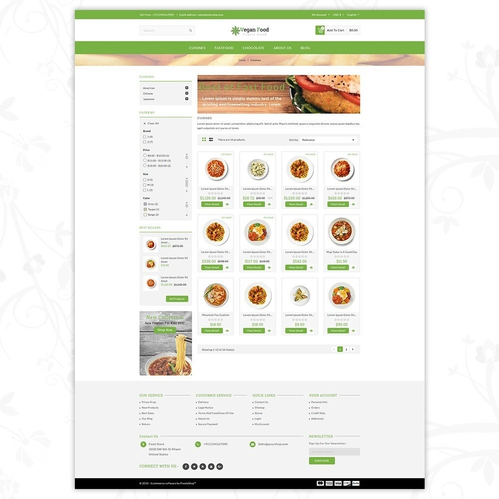 theme - Alimentation & Restauration - Vegan Food Store - 3