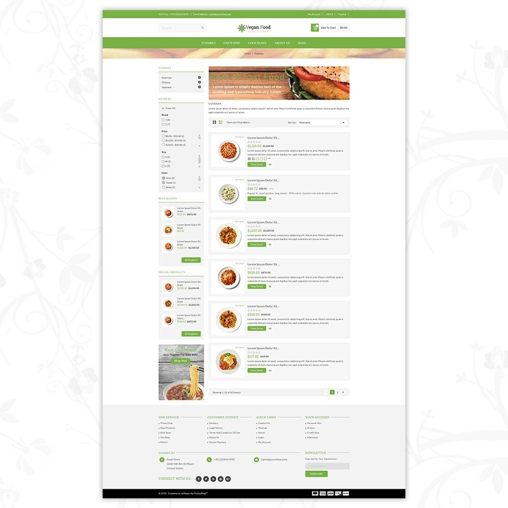 theme - Alimentation & Restauration - Vegan Food Store - 4