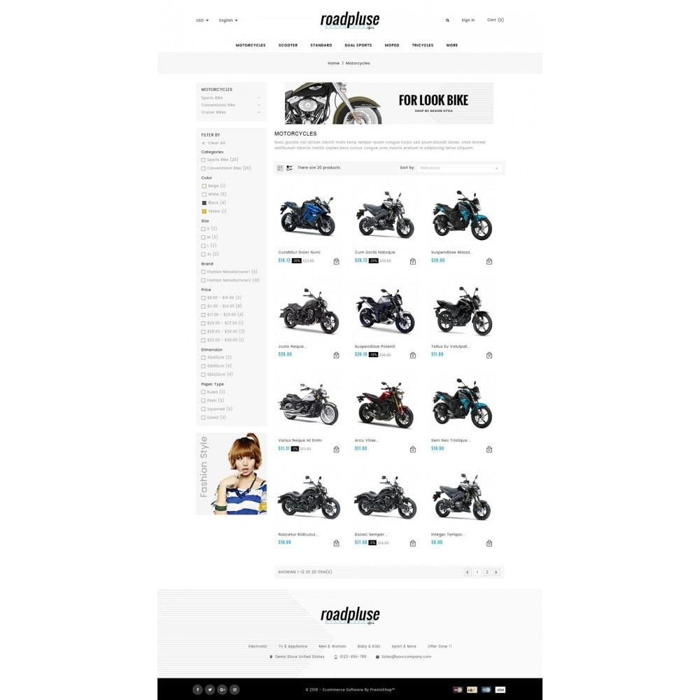 theme - Automotive & Cars - Roadpluse - Bike Store - 3
