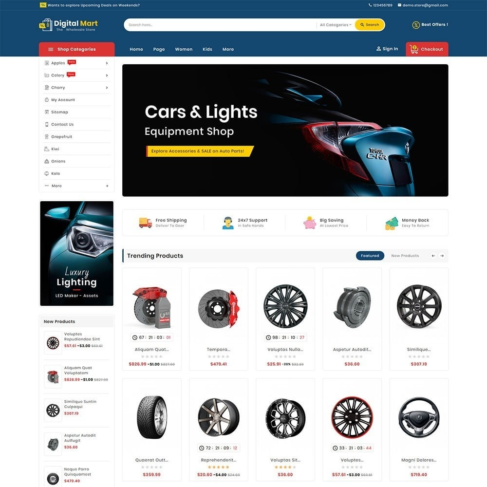 theme - Automotive & Cars - Digital Mart Auto Parts - 2