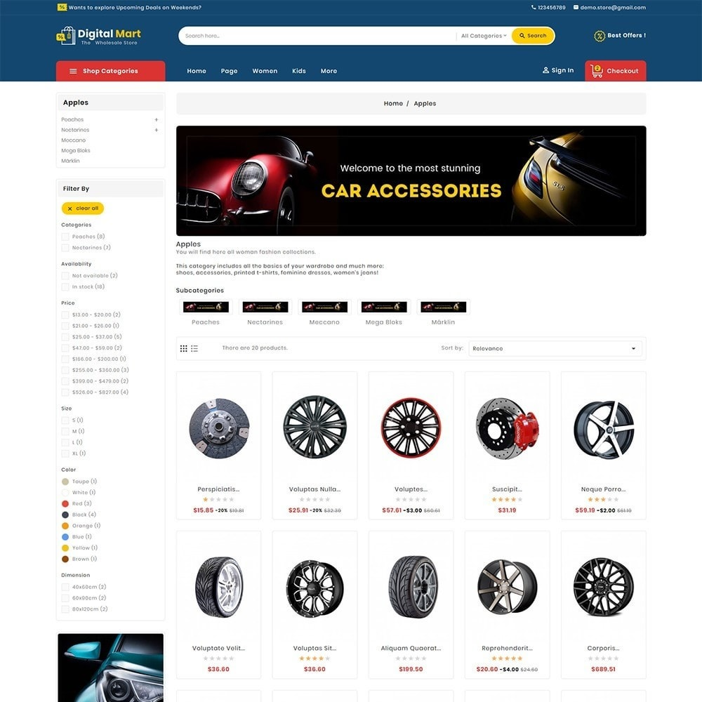 theme - Automotive & Cars - Digital Mart Auto Parts - 4