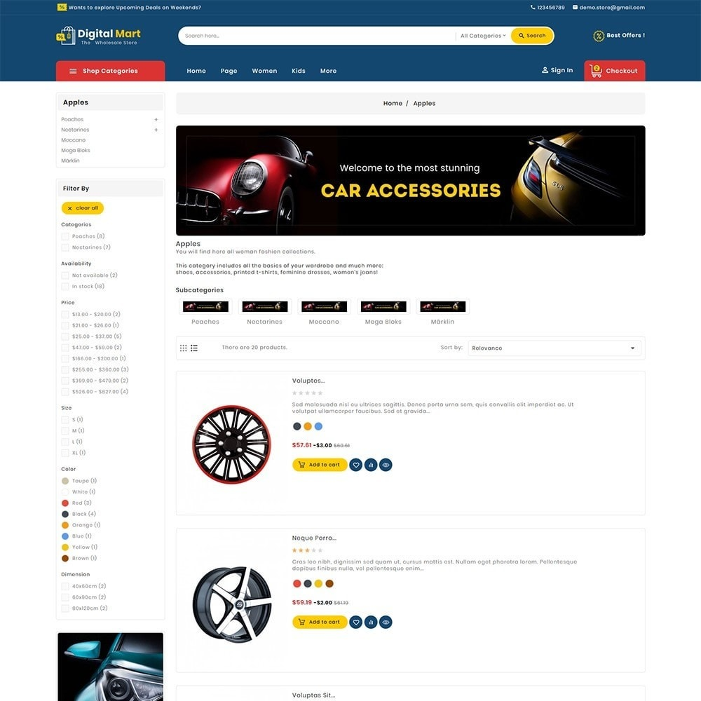 theme - Automotive & Cars - Digital Mart Auto Parts - 5