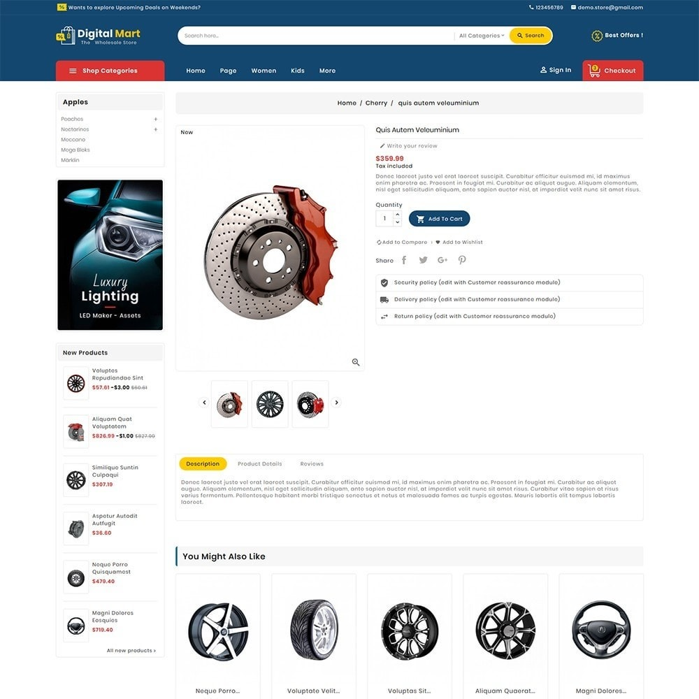 theme - Automotive & Cars - Digital Mart Auto Parts - 6