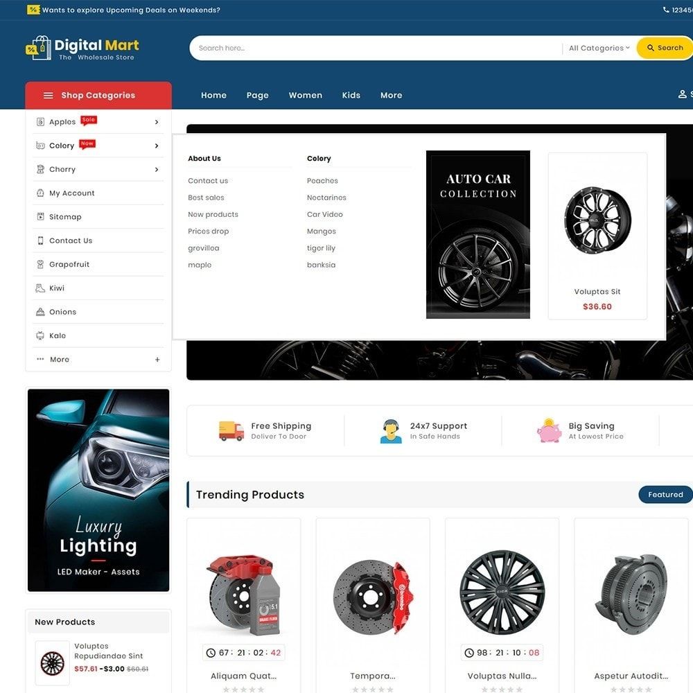 theme - Automotive & Cars - Digital Mart Auto Parts - 10
