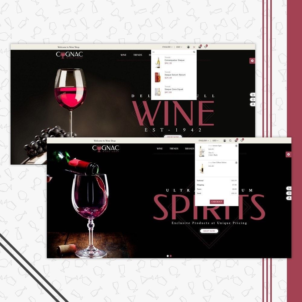 theme - Drink & Wine - Wine Store - 7