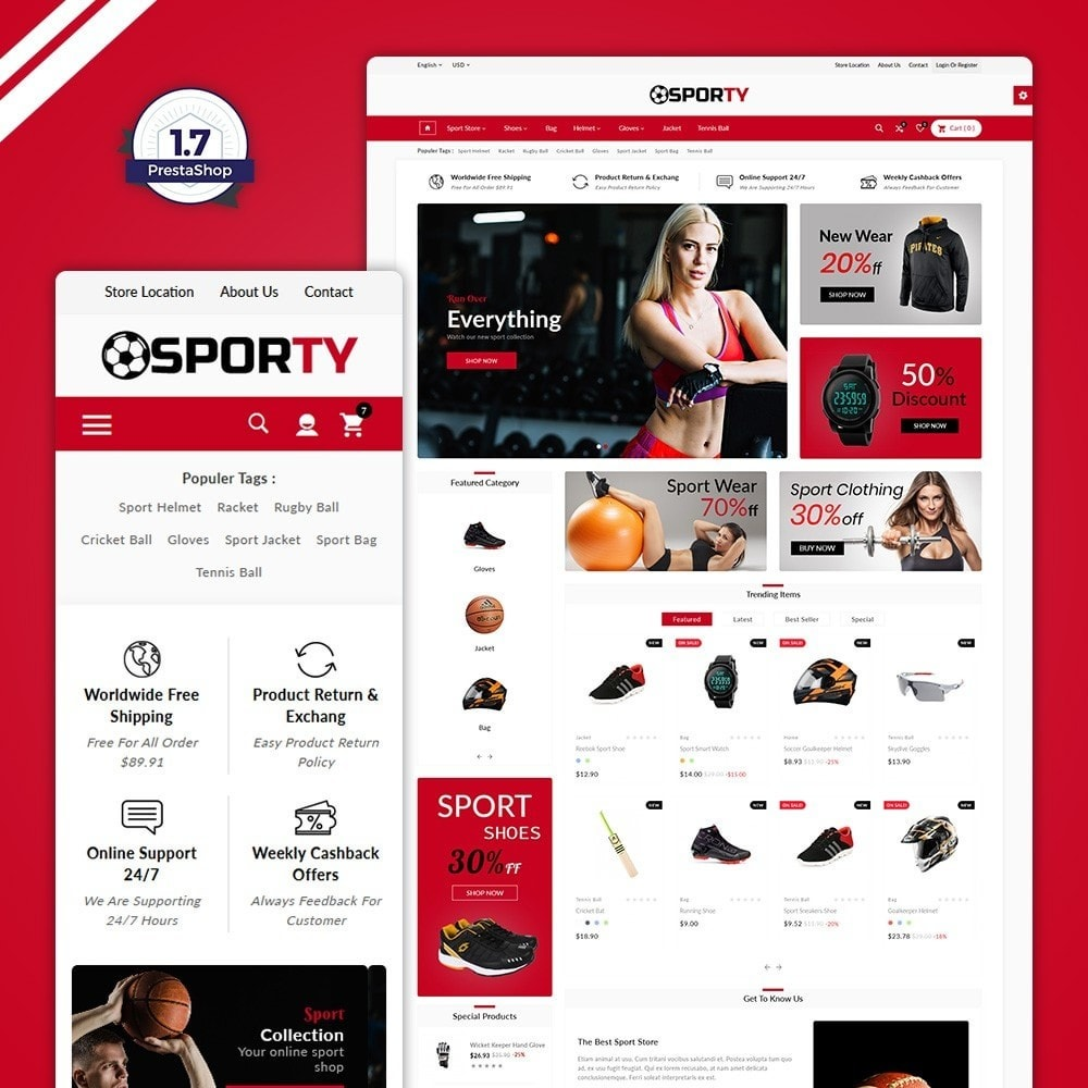 theme - Sports, Activities & Travel - Sporty –Multi Sport Store - 1