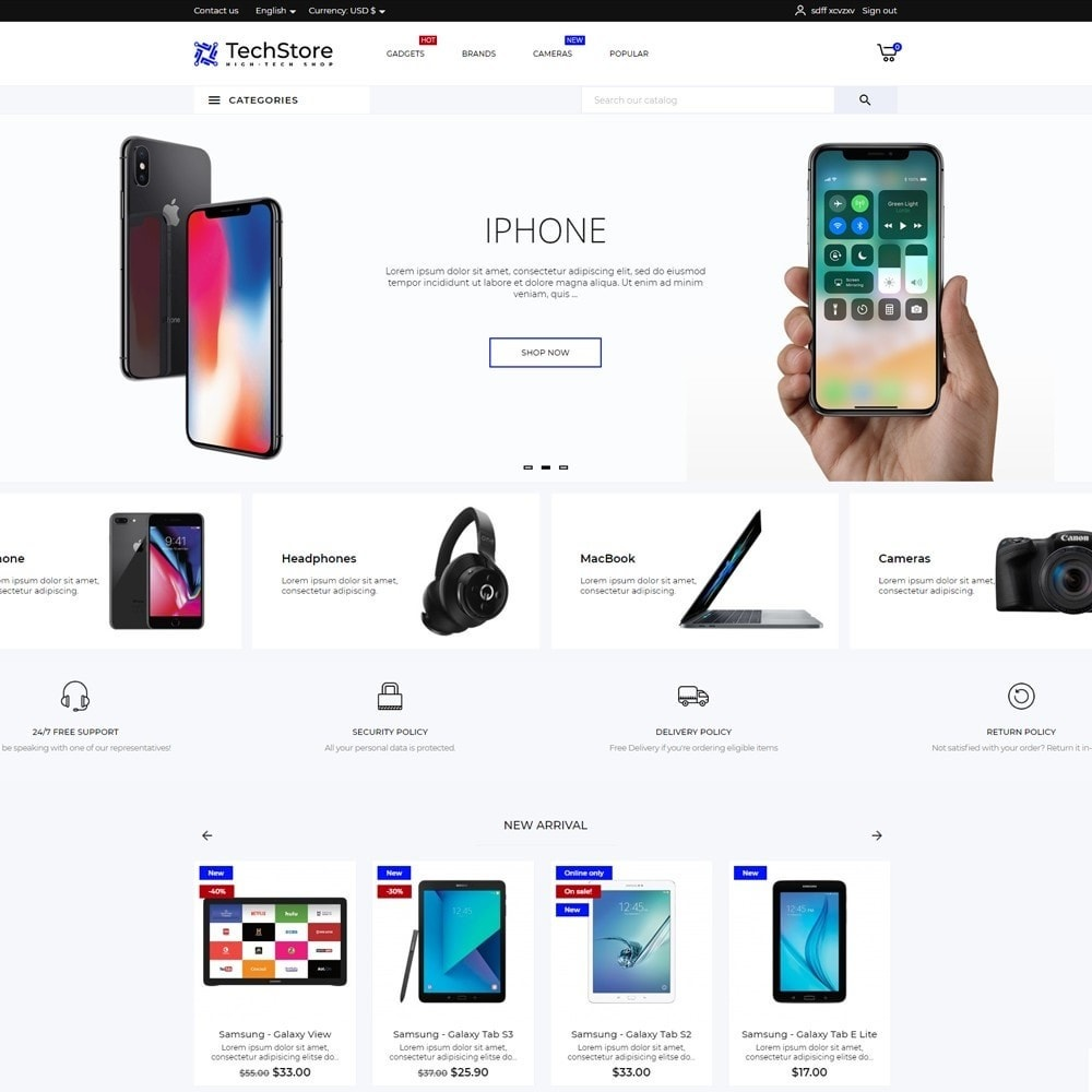 theme - Electronics & Computers - TechStore - High-tech Shop - 2