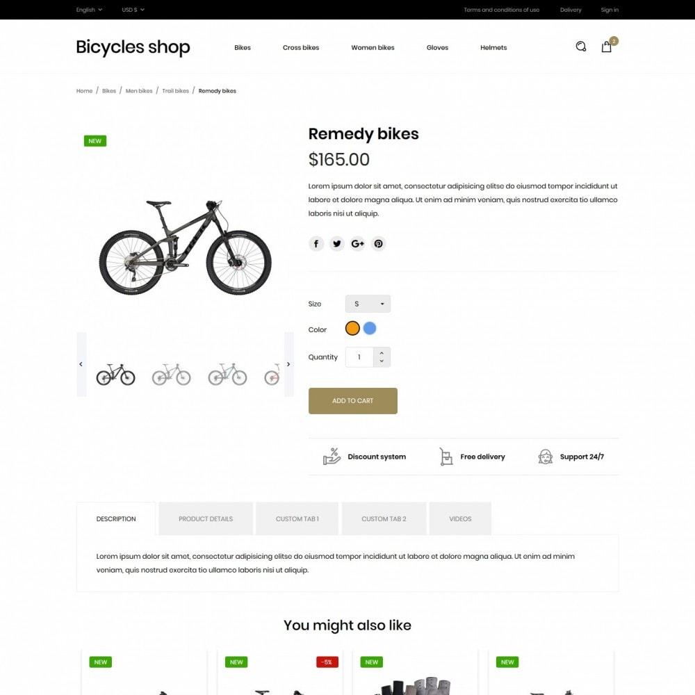 theme - Sports, Activities & Travel - Bicycles shop - 6