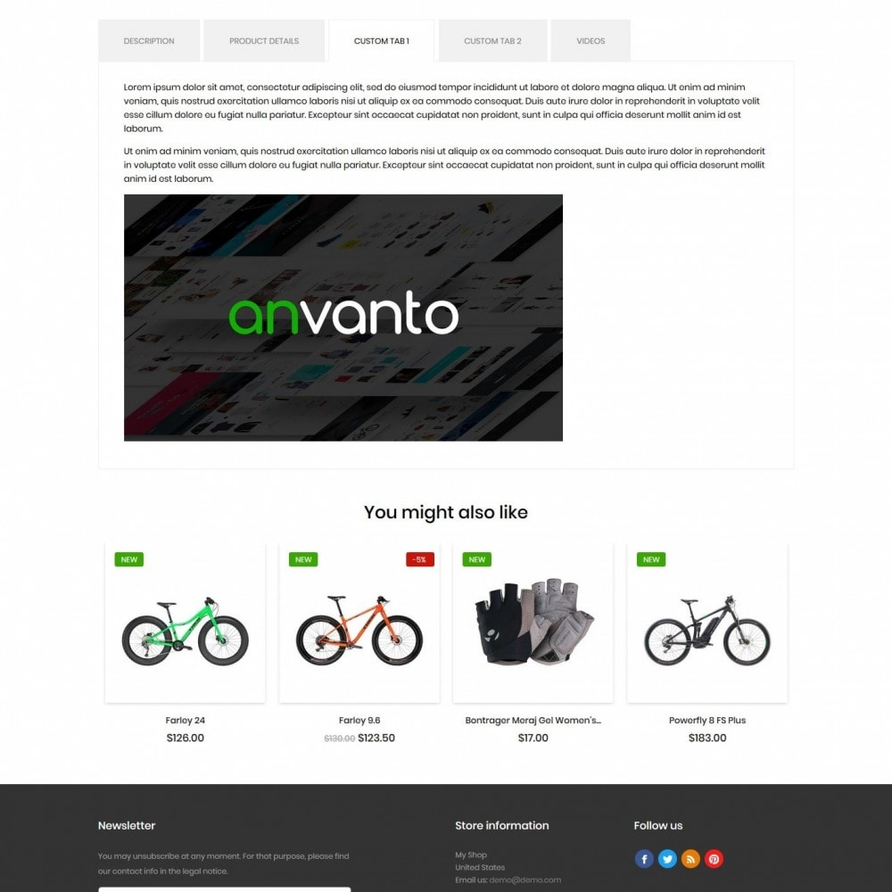 theme - Sports, Activities & Travel - Bicycles shop - 8