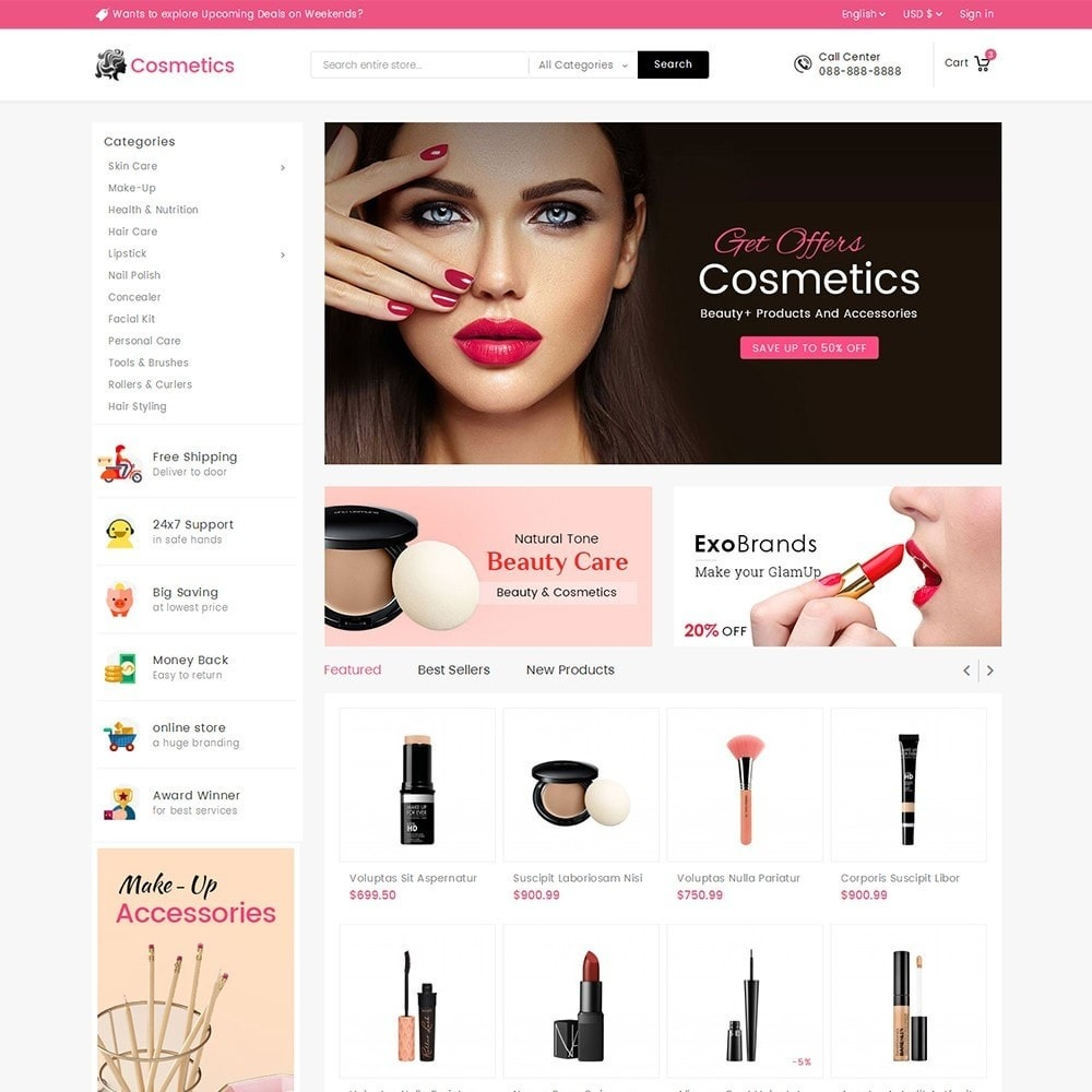 theme - Salute & Bellezza - Mega Cosmetics - 2