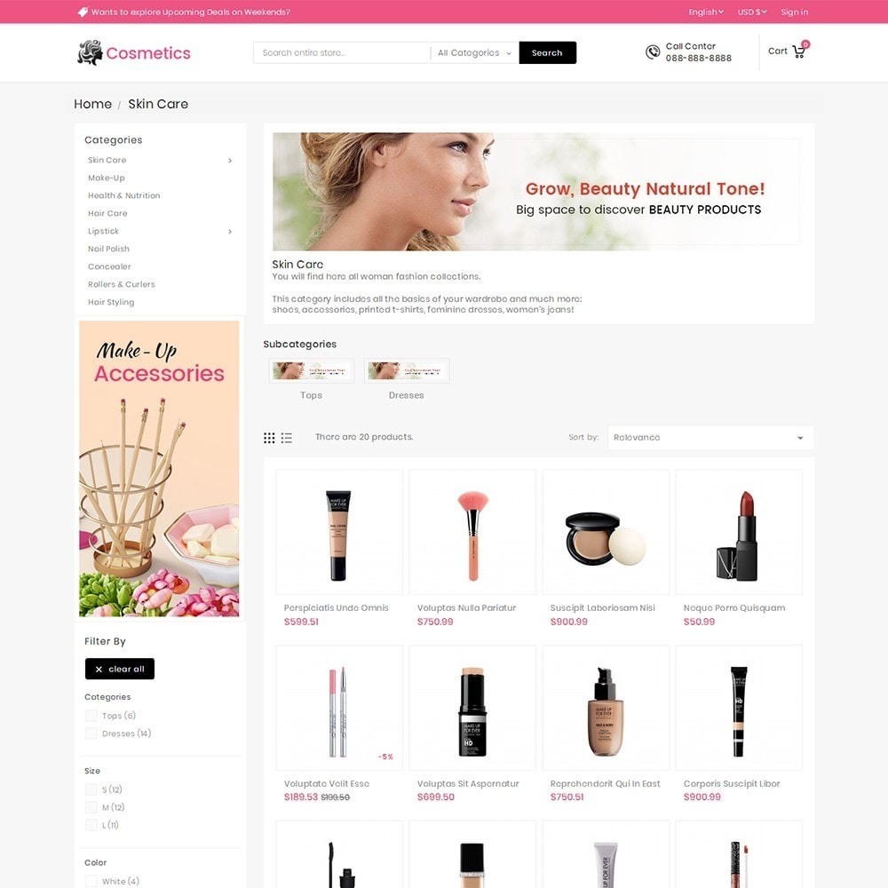 theme - Salute & Bellezza - Mega Cosmetics - 5