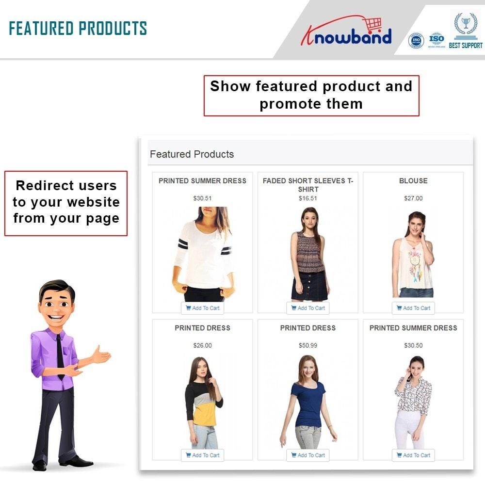 module - Prodotti sui Facebook & Social Network - Knowband - Social Shop Integrator - 2