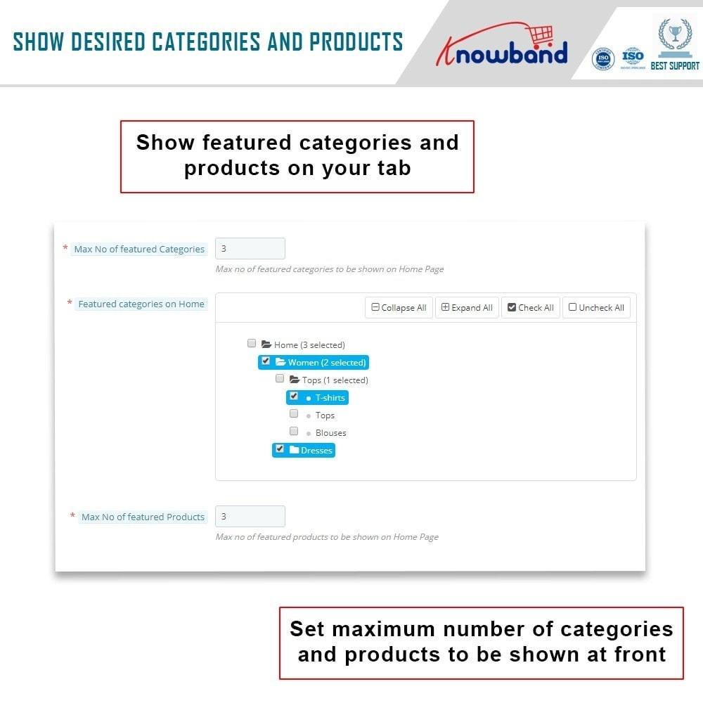 module - Prodotti sui Facebook & Social Network - Knowband - Social Shop Integrator - 7