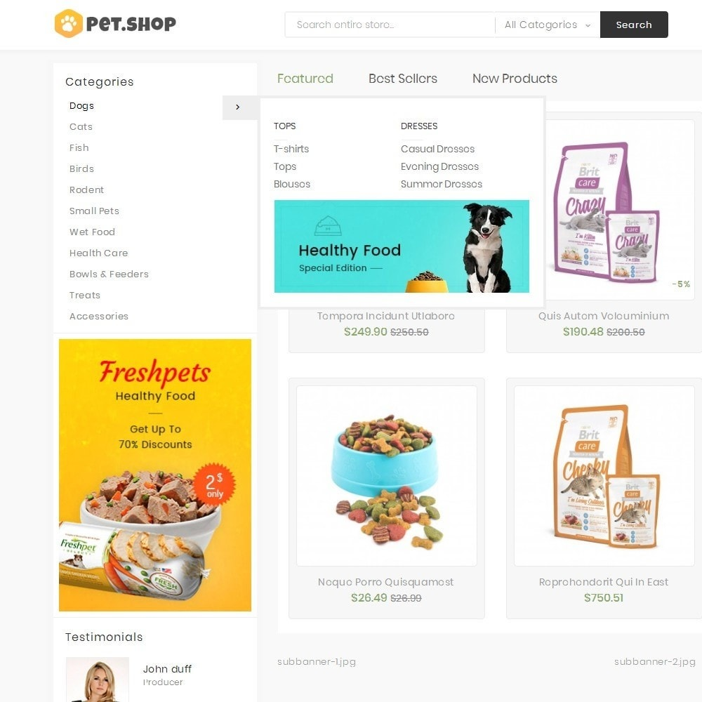 theme - Animais - Mega Pet Food - 9