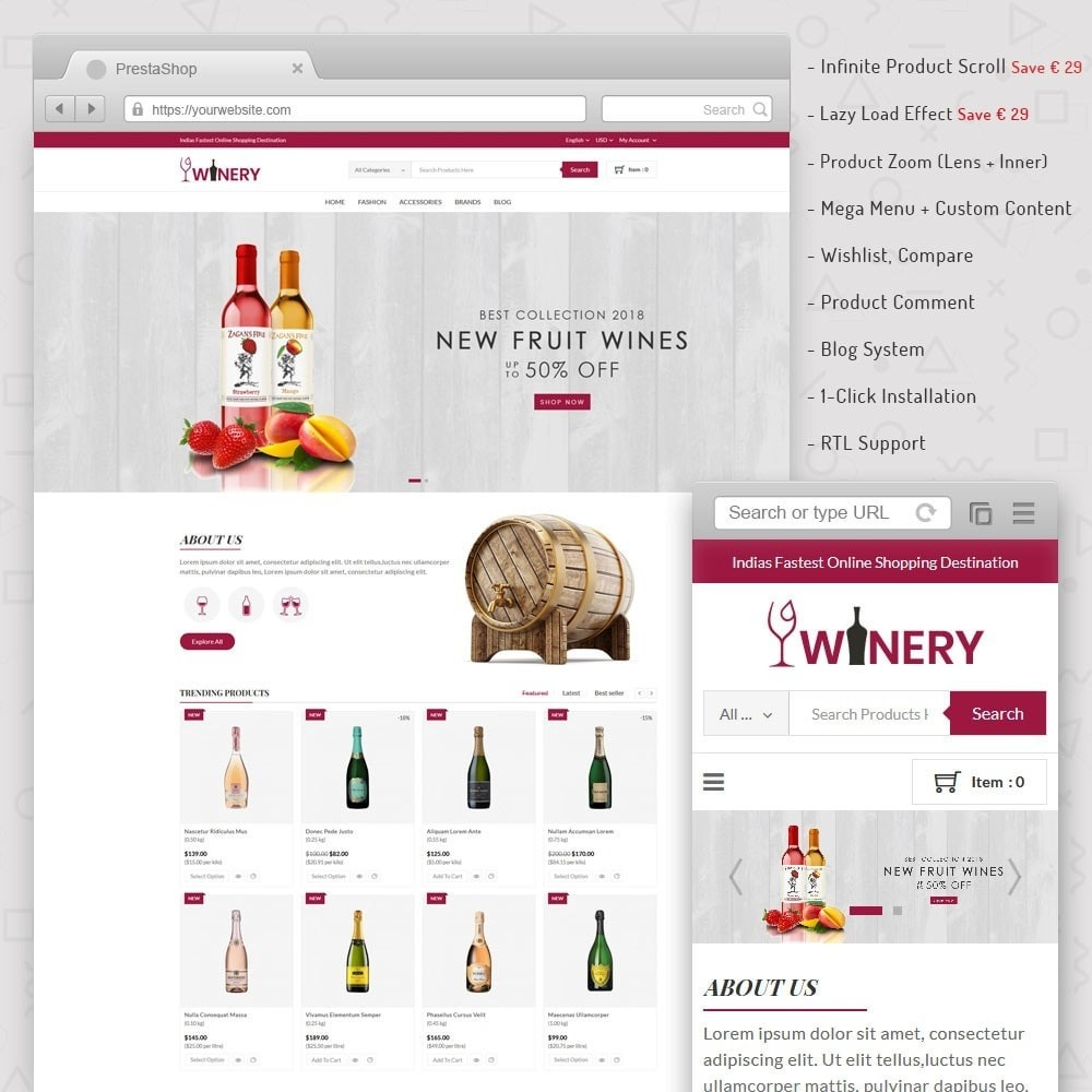 theme - Drink & Wine - Winery Store - 1