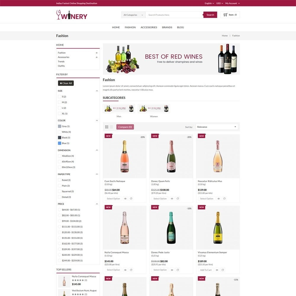 theme - Drink & Tobacco - Winery Store - 3