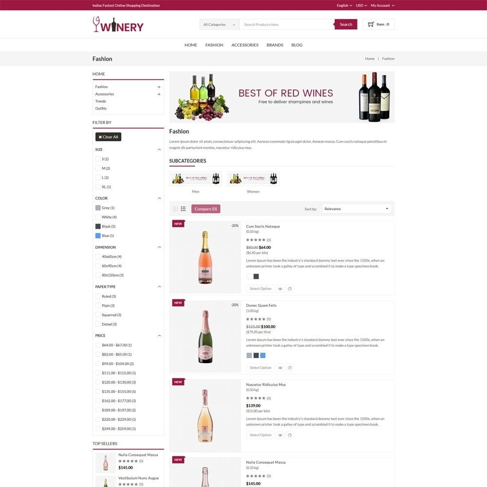 theme - Drink & Tobacco - Winery Store - 4