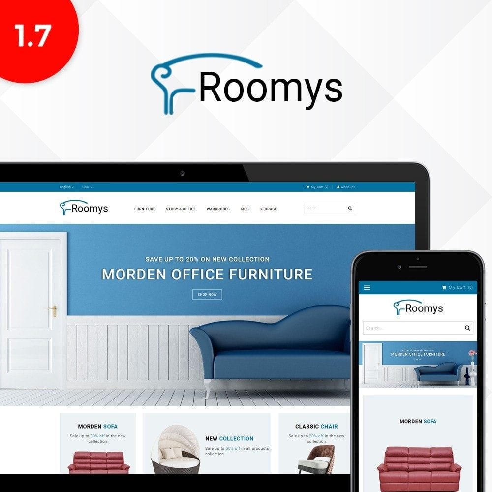 theme - Home & Garden - Roomys Store - 1