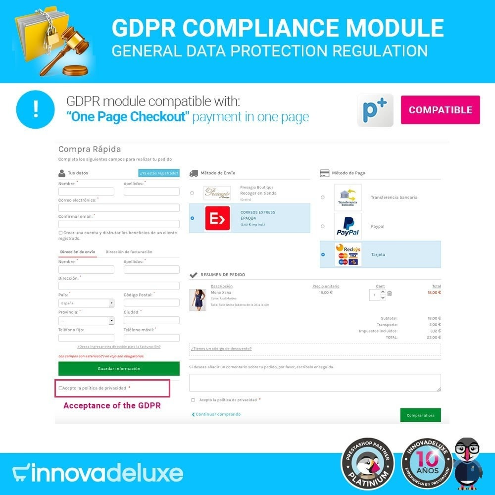 module - Legal - Data privacy extended (data protection law) - GDPR - 17