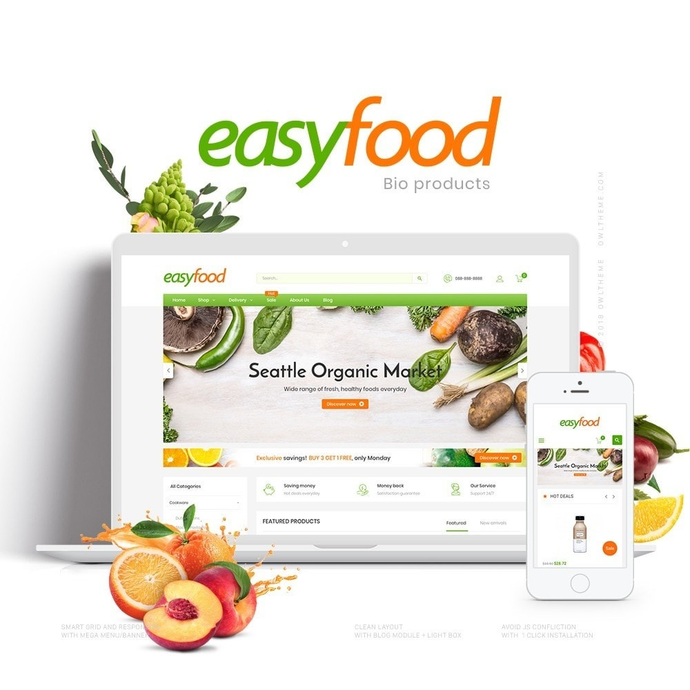 theme - Food & Restaurant - EasyFood Store - 1