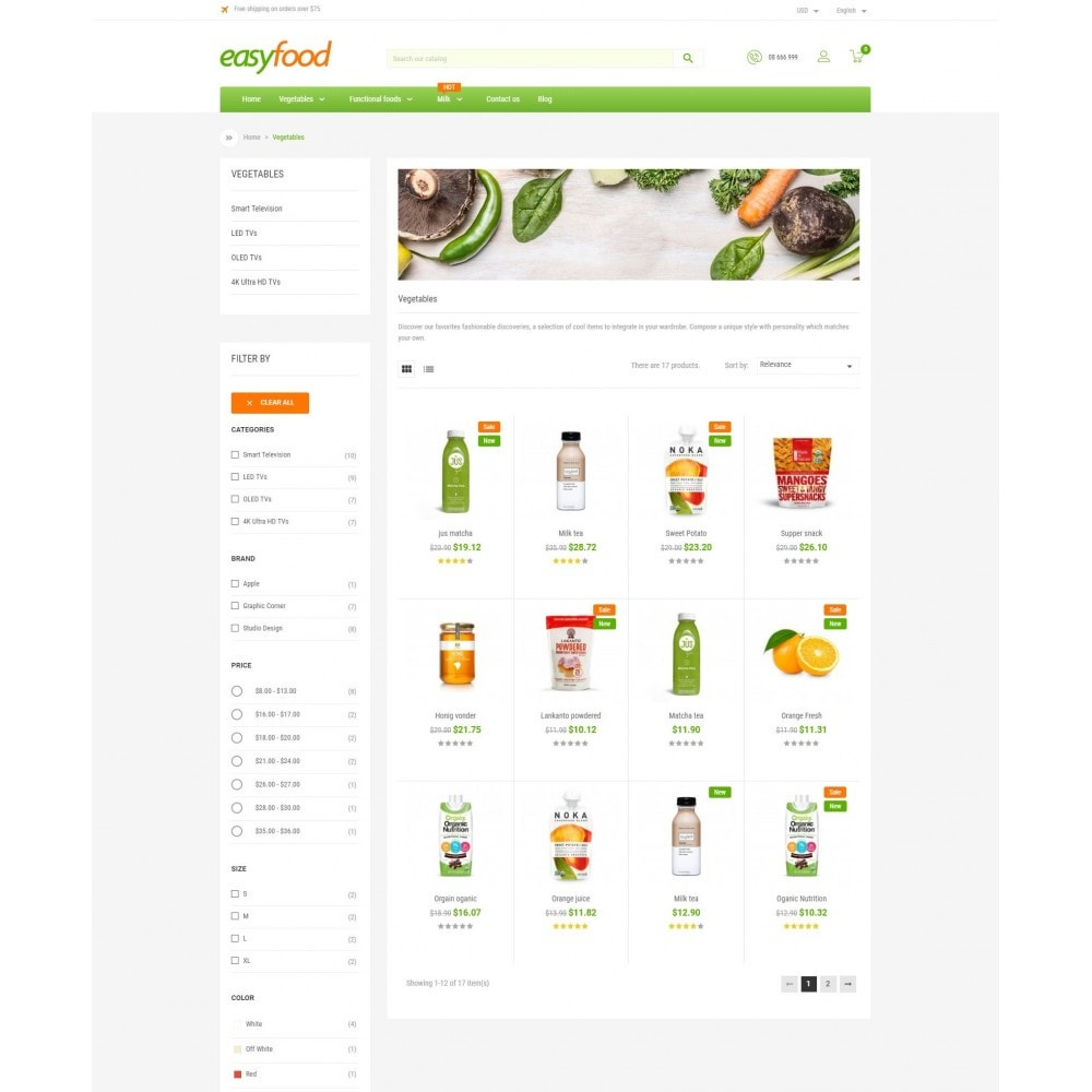 theme - Food & Restaurant - EasyFood Store - 3
