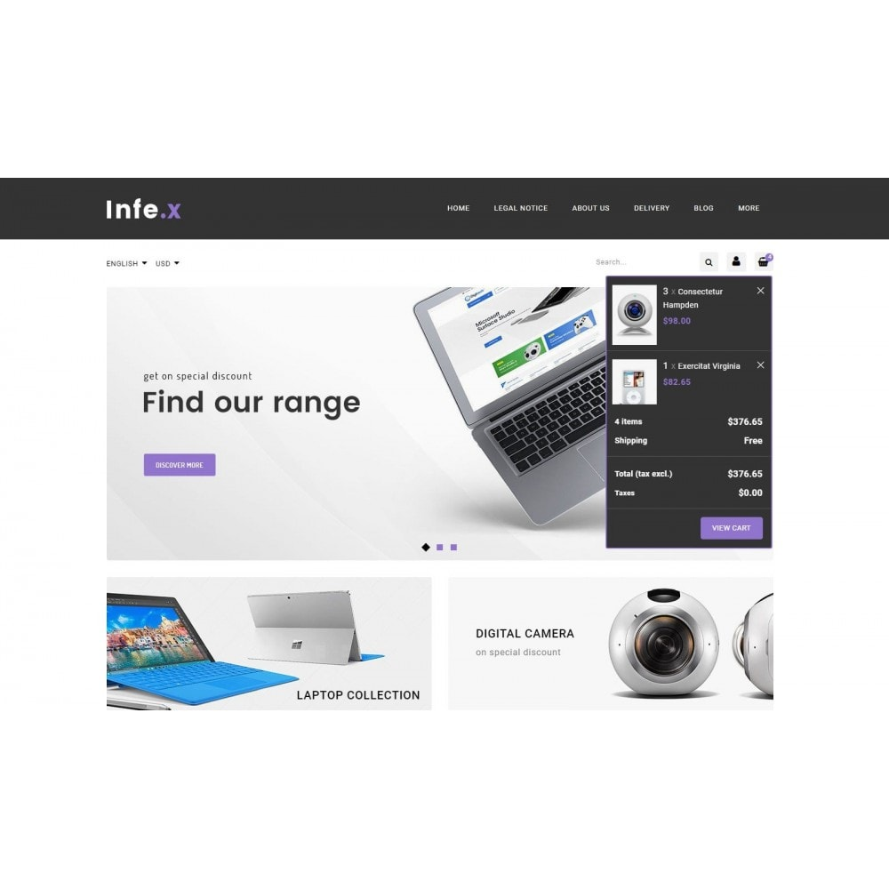 theme - Электроника и компьютеры - Infex - Electronic Store - 8