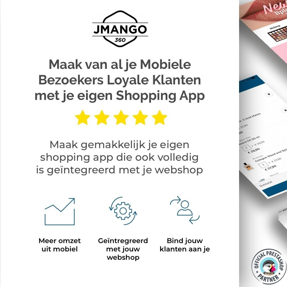 module - Mobiele apparaten - JMango360 Mobile App builder - 1