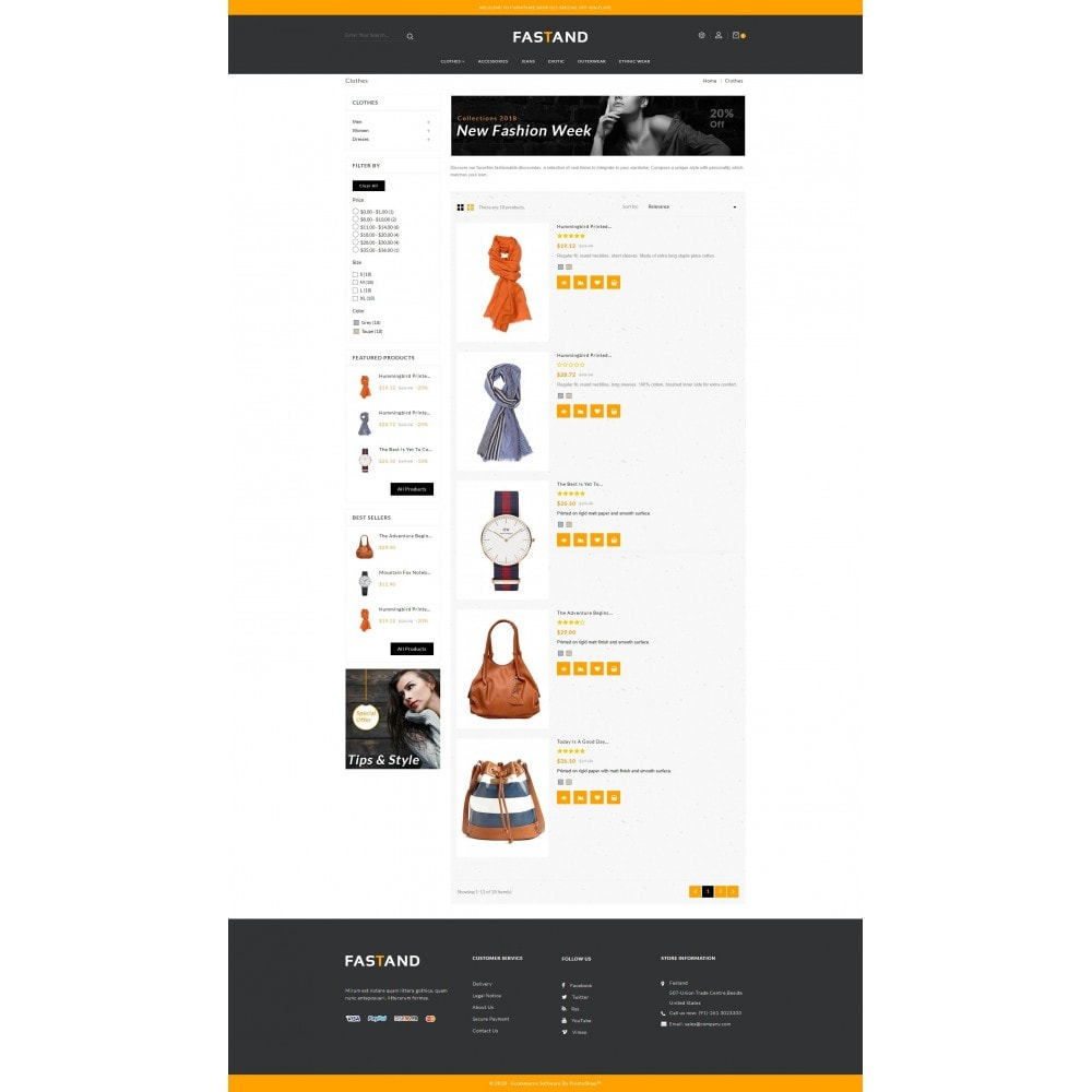 theme - Fashion & Shoes - Fastand Fashion Store - 4