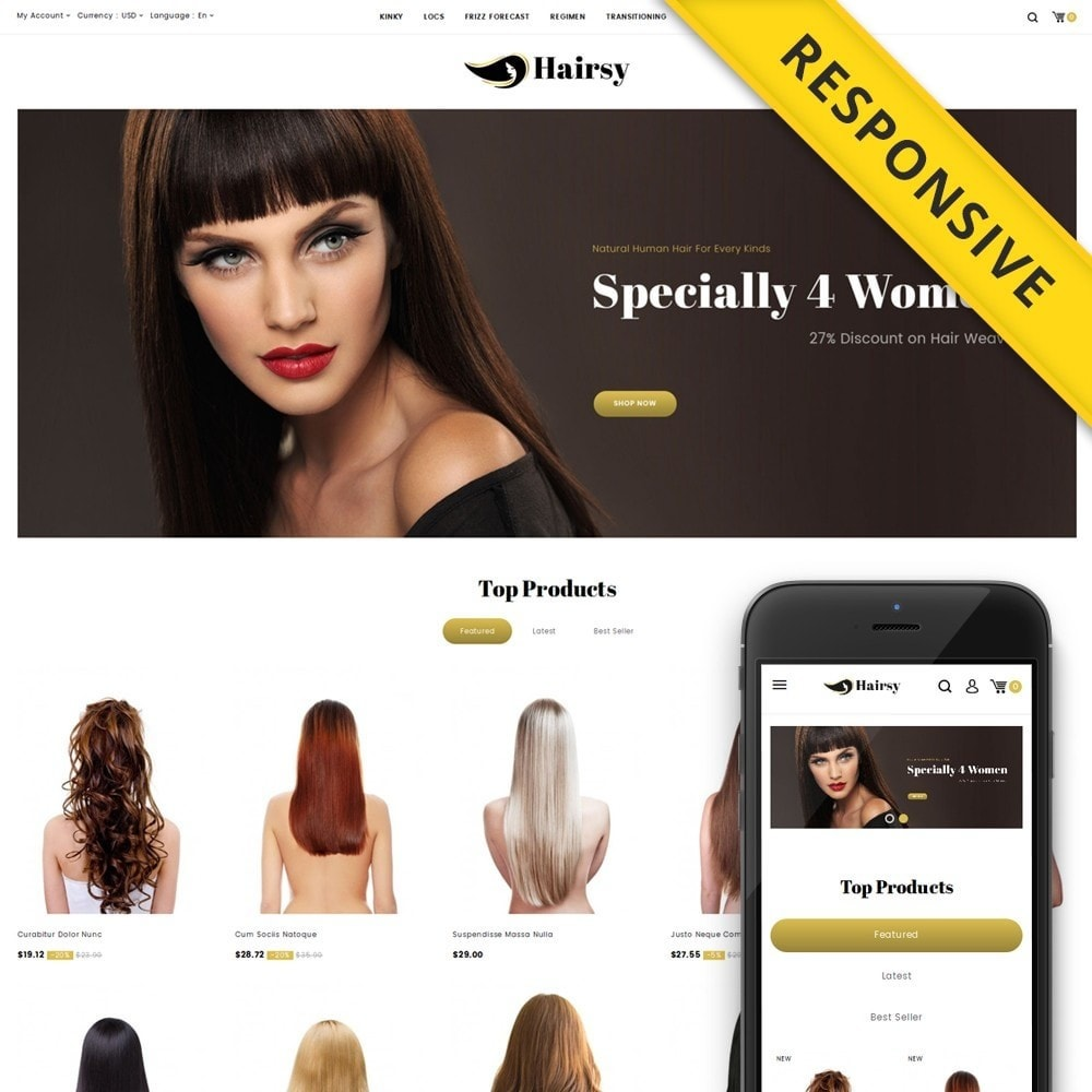 theme - Health & Beauty - Hairsy - Salon Store - 1