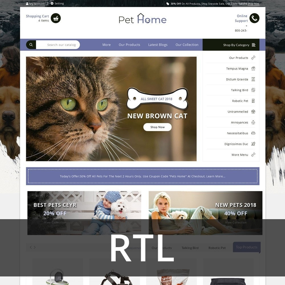 theme - Animaux - Pethome - The Animal Shop - 3