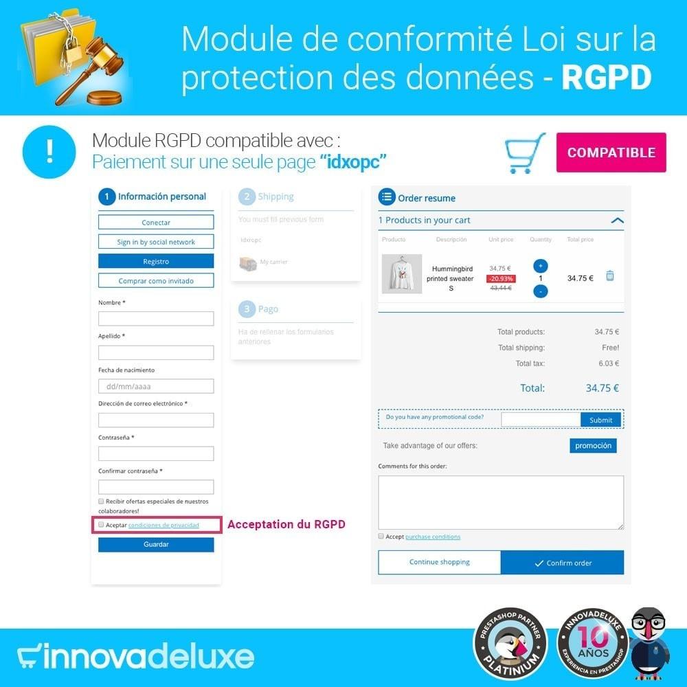 module - Législation - Conformité à la Loi sur la protection des données RGPD - 16
