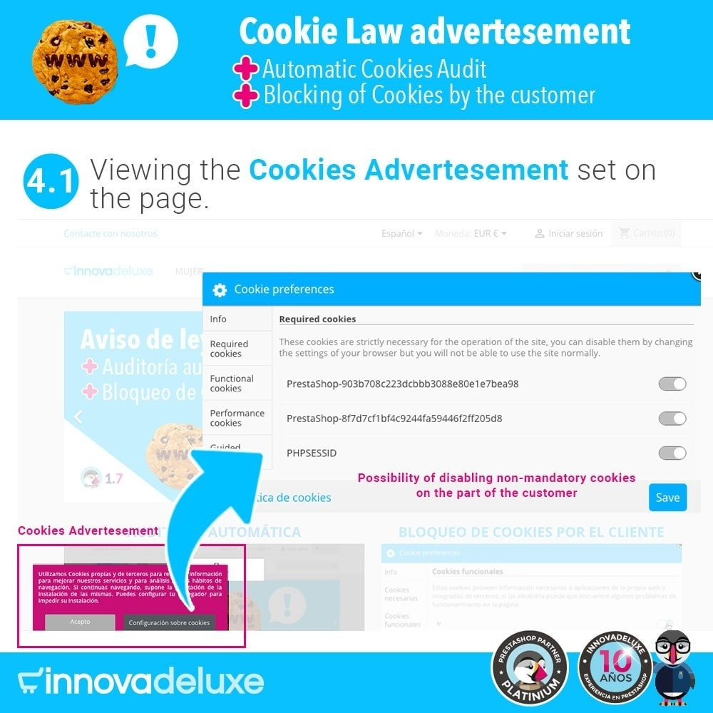 module - Juridisch - GDPR Cookies Law (Advice - Audit - Blocking) - 6