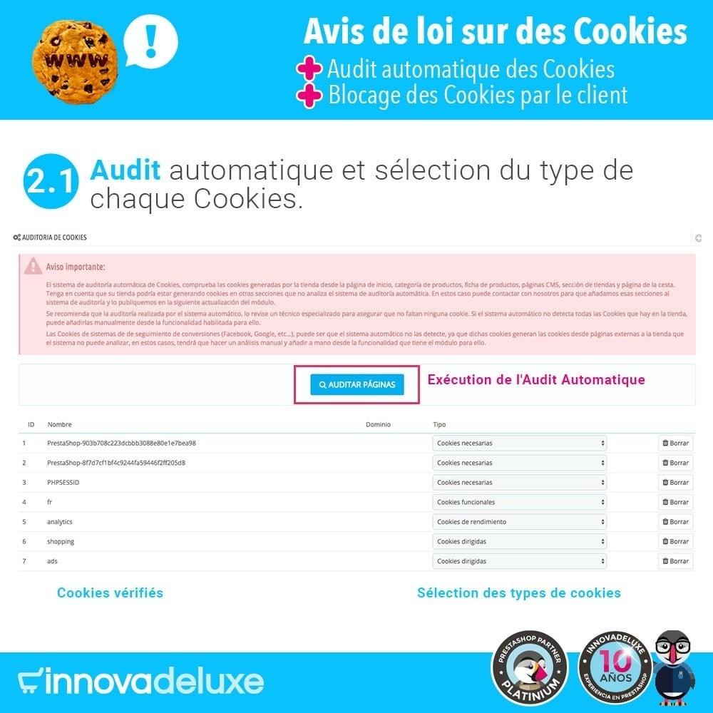 module - Législation - Loi des Cookies RGPD (Avi - Audit - Blocage) - 3